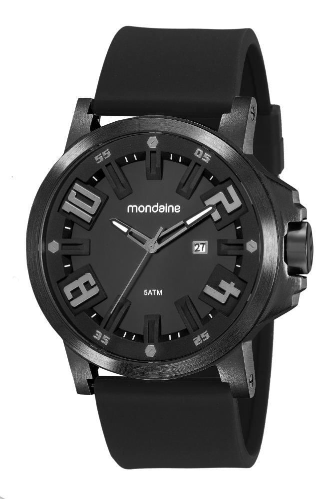 Relógio Masculino Mondaine 99453GPMVPI3 50mm Silicone Preto