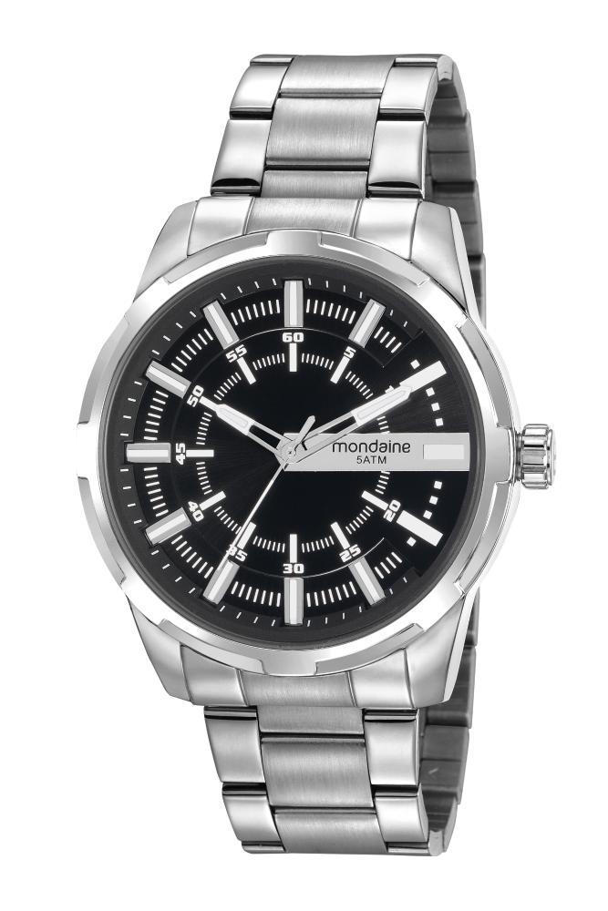Relógio Masculino Mondaine 99469G0MVNE1 48mm Aço Prata
