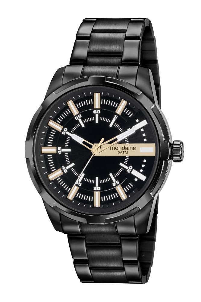 Relógio Masculino Mondaine 99469GPMVPE2 48mm Aço Preto