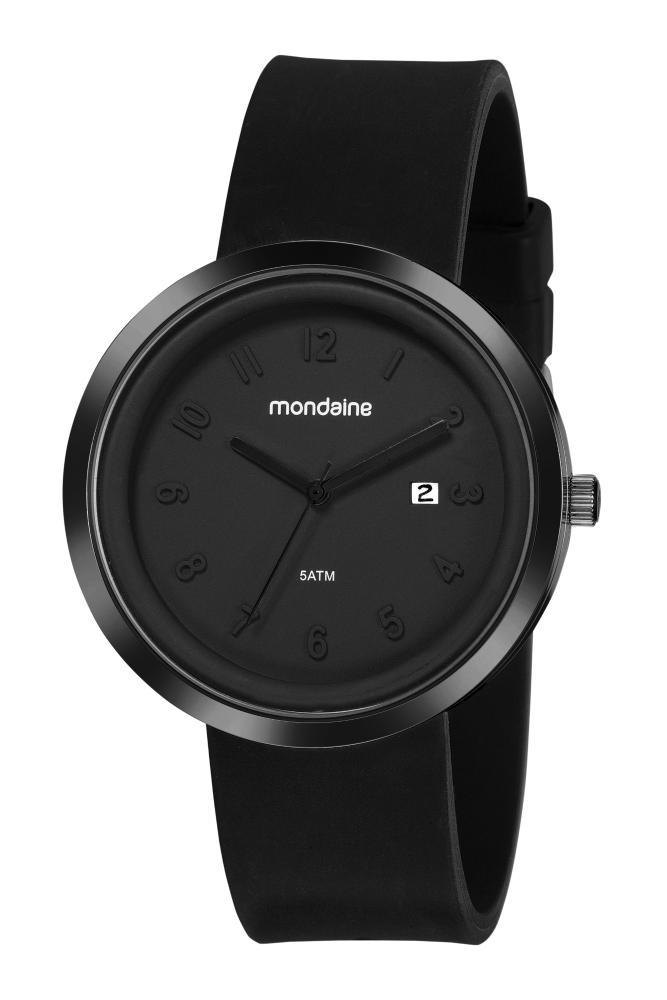 Relógio Masculino Mondaine 99489GPMVPI1 44mm Silicone Preto