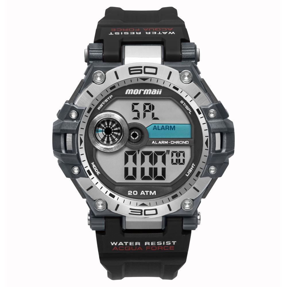 Relógio Masculino Mormaii Acqua Force MO14073AA/8P 53mm Borracha Cinza