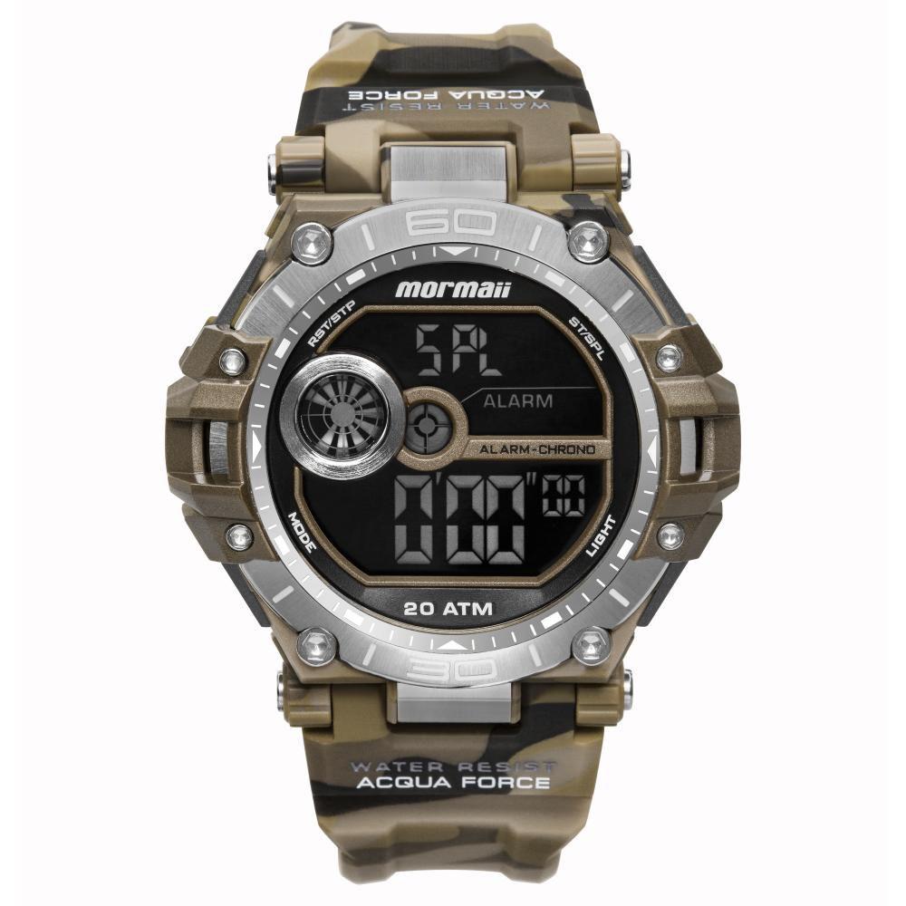 Relógio Masculino Mormaii Acqua Force MO14073AB/8M 53mm Borracha Camuflado Marrom