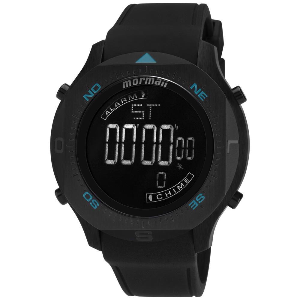 Relógio Masculino Mormaii Acqua MO11273/8P 50mm Silicone Preto