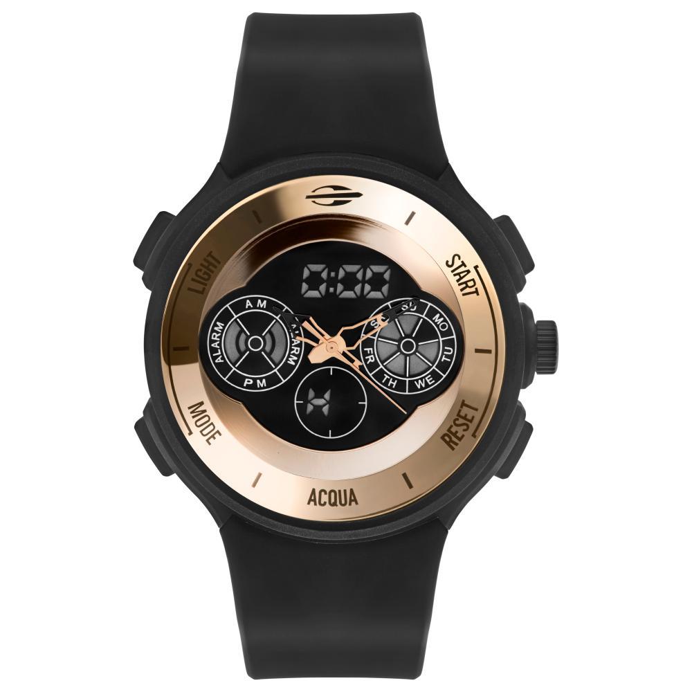 Relógio Masculino Mormaii Acqua MO160323AM/8J 47mm Silicone Preto