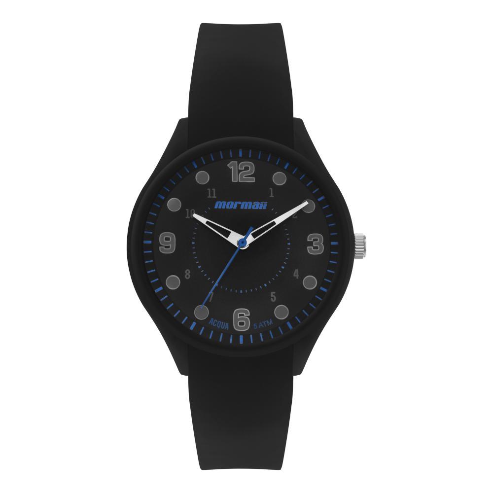 Relógio Masculino Mormaii Acqua MO2035KV/8P 44mm Silicone Preto