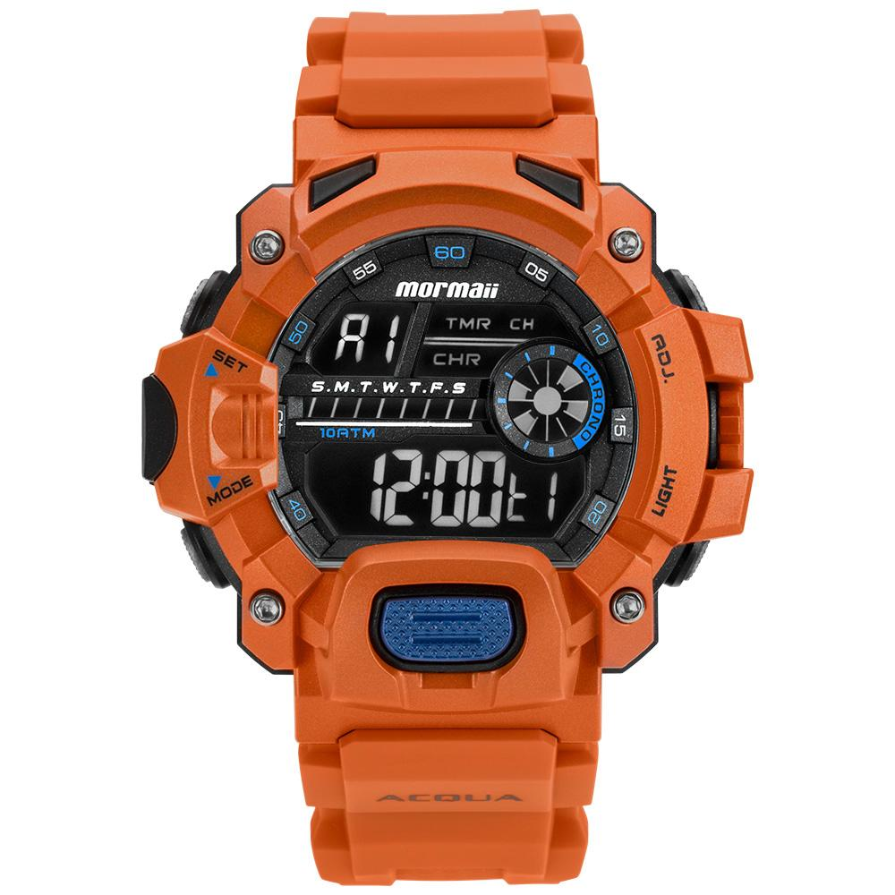 Relógio Masculino Mormaii Acquaforce MOZM1132/8L 54mm Silicone Laranja