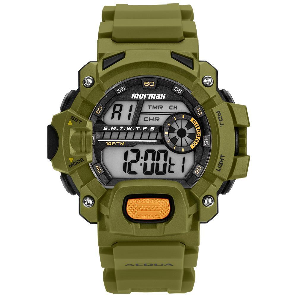 Relógio Masculino Mormaii Acquaforce MOZM1132/8V 54mm Silicone Verde