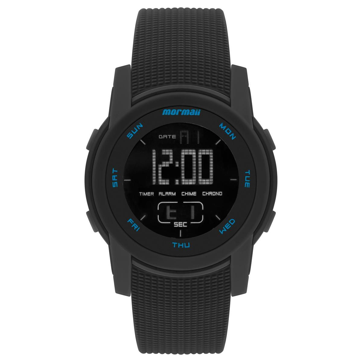 Relógio Masculino Mormaii Action MO1000AB/8P 46mm Plastico Preto