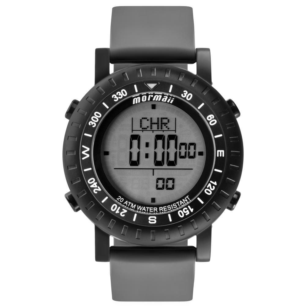Relógio Masculino Mormaii Action MO1152A/8P 50mm Silicone Cinza