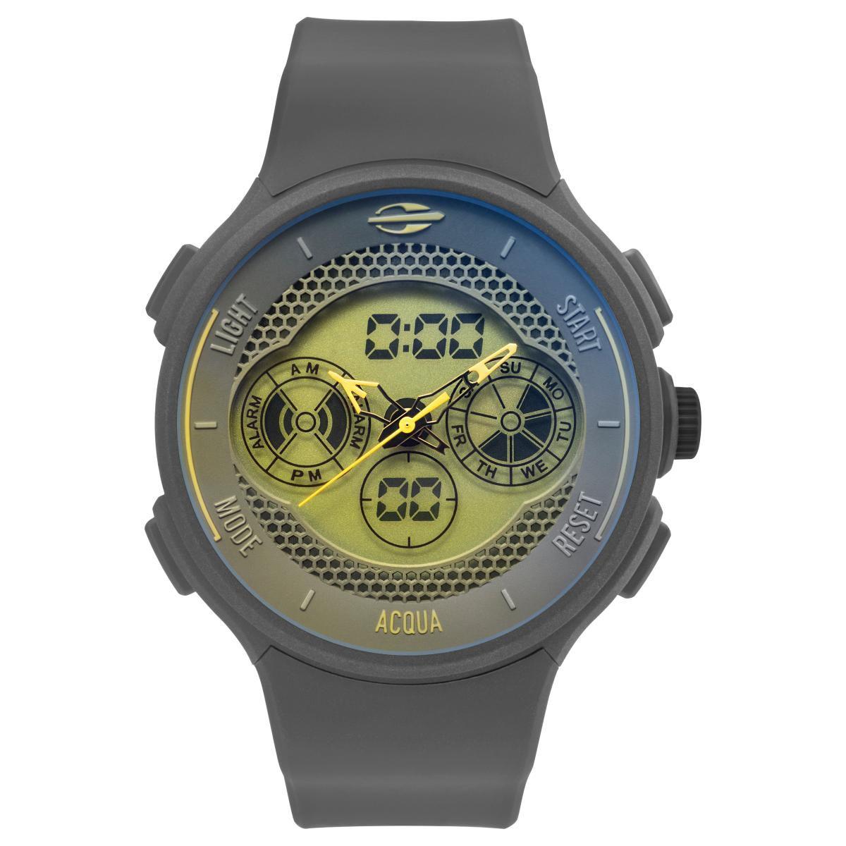 Relógio Masculino Mormaii Action MO1608C/8A 47mm Silicone Cinza