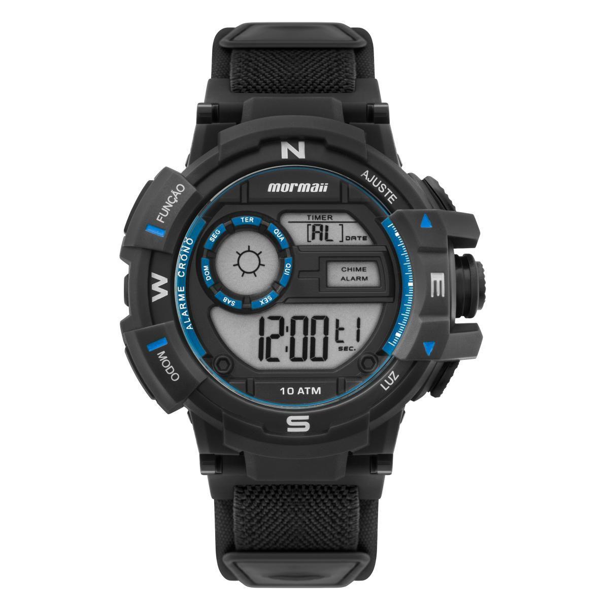 Relógio Masculino Mormaii Action MO3231AA/8A Neoprene Preto