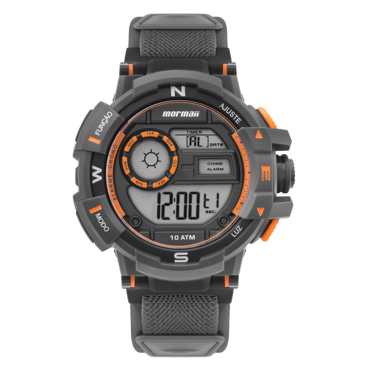 Relógio Masculino Mormaii Action MO3231AC/8L 54mm Neoprene Cinza