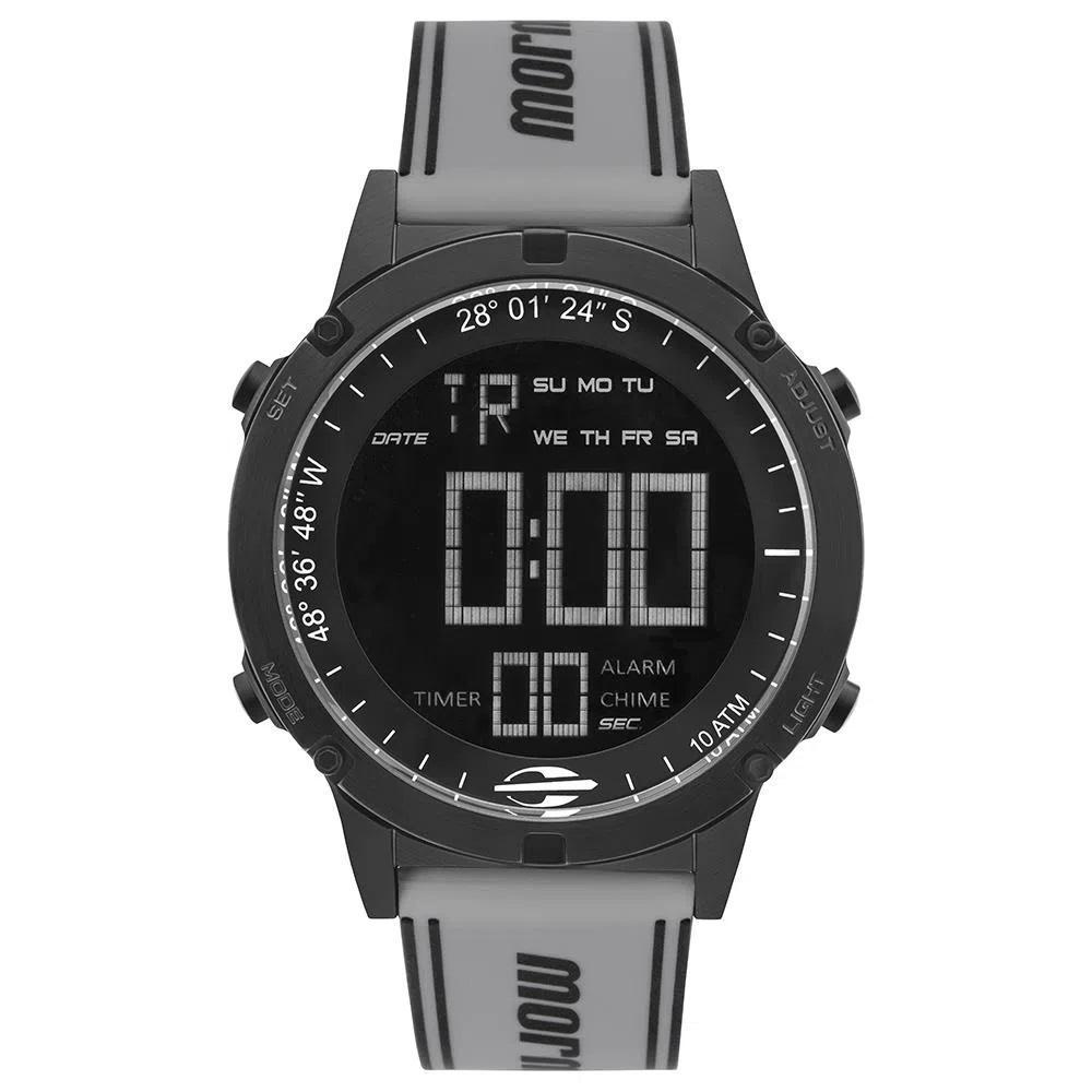 Relógio Masculino Mormaii Digital MOW13901H2W 40mm Silicone Cinza