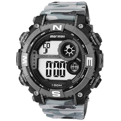Relógio Masculino Mormaii MO12579A/8C Camuflado Cinza Militar