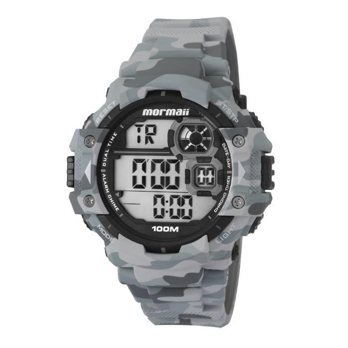 a11e8276367 Relógio Masculino Mormaii MO13609A 8C 55mm Cinza Camuflado