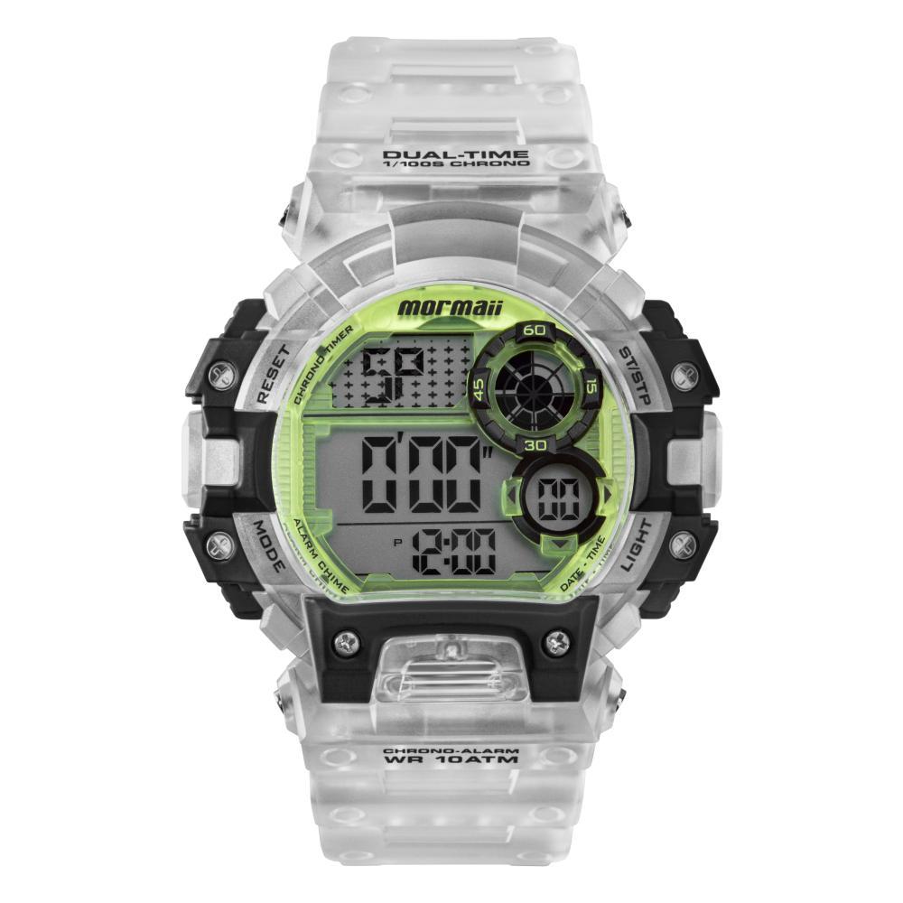 Relógio Masculino Mormaii MO13613AC/8W 51mm Polímero Transparente