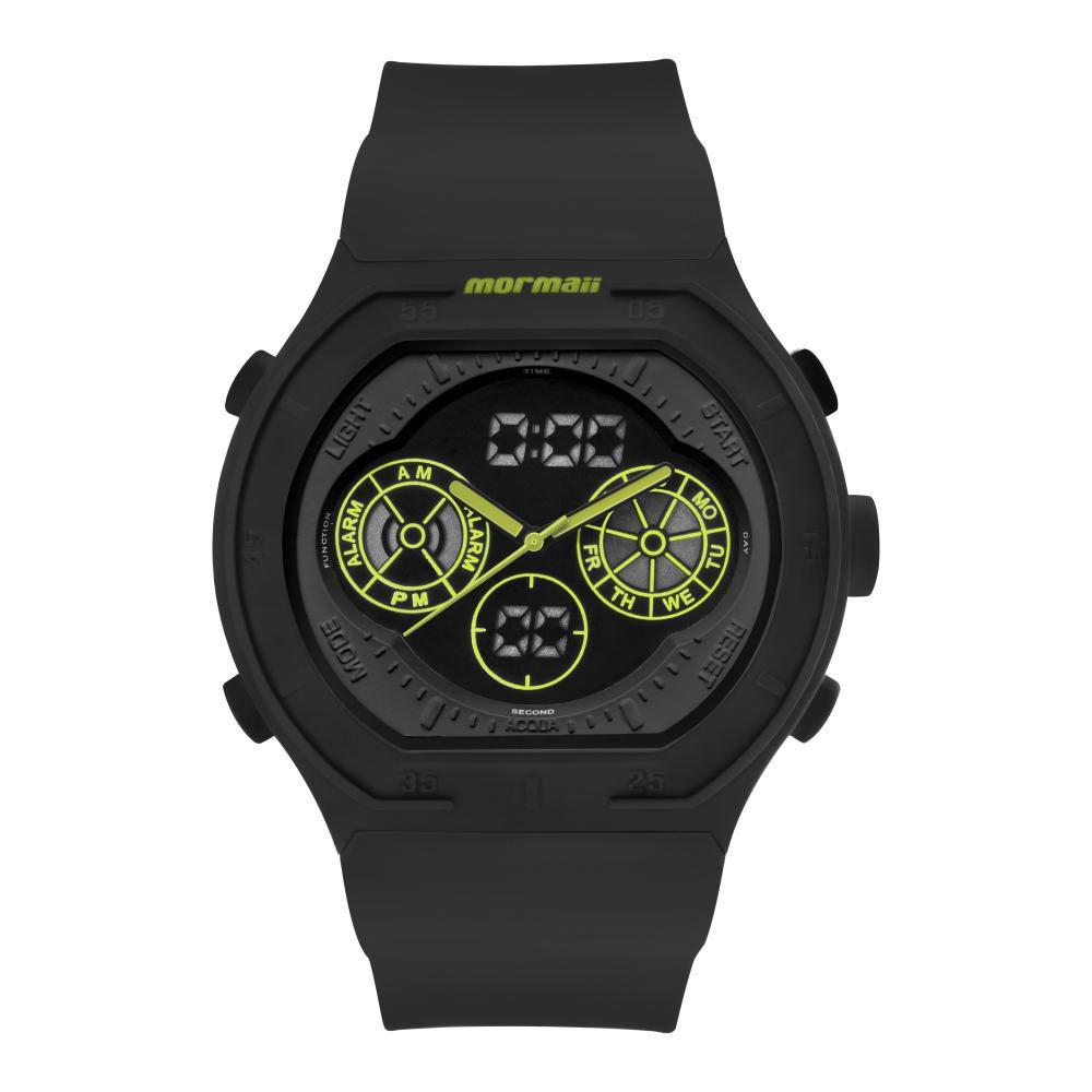 Relógio Masculino Mormaii MO160323BA/8V 50mm Silicone Preto