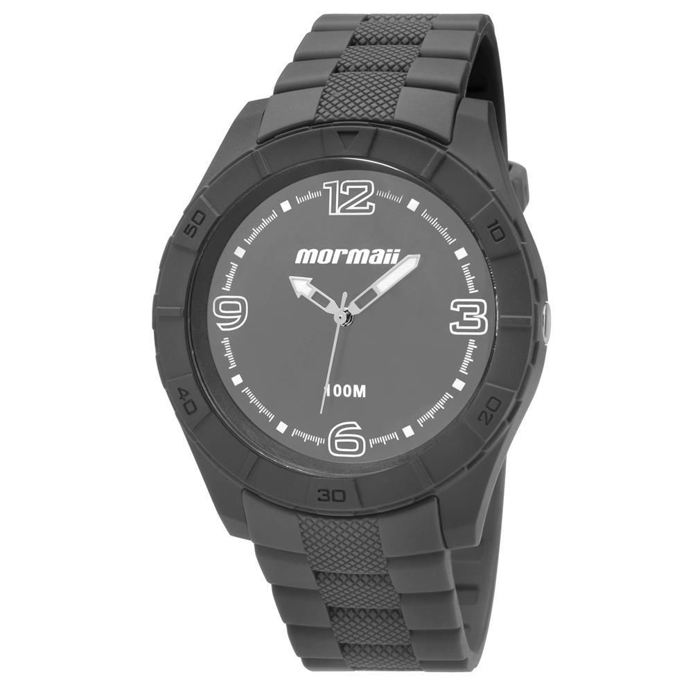 c9af8fc2404 Relógio Masculino Mormaii MO2035FG 8C 48mm Cinza Pulseira Plástico