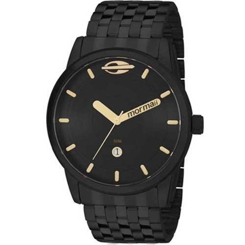 Relógio Masculino Mormaii MO2115AA/4P 46mm Pulseira Aço Preta