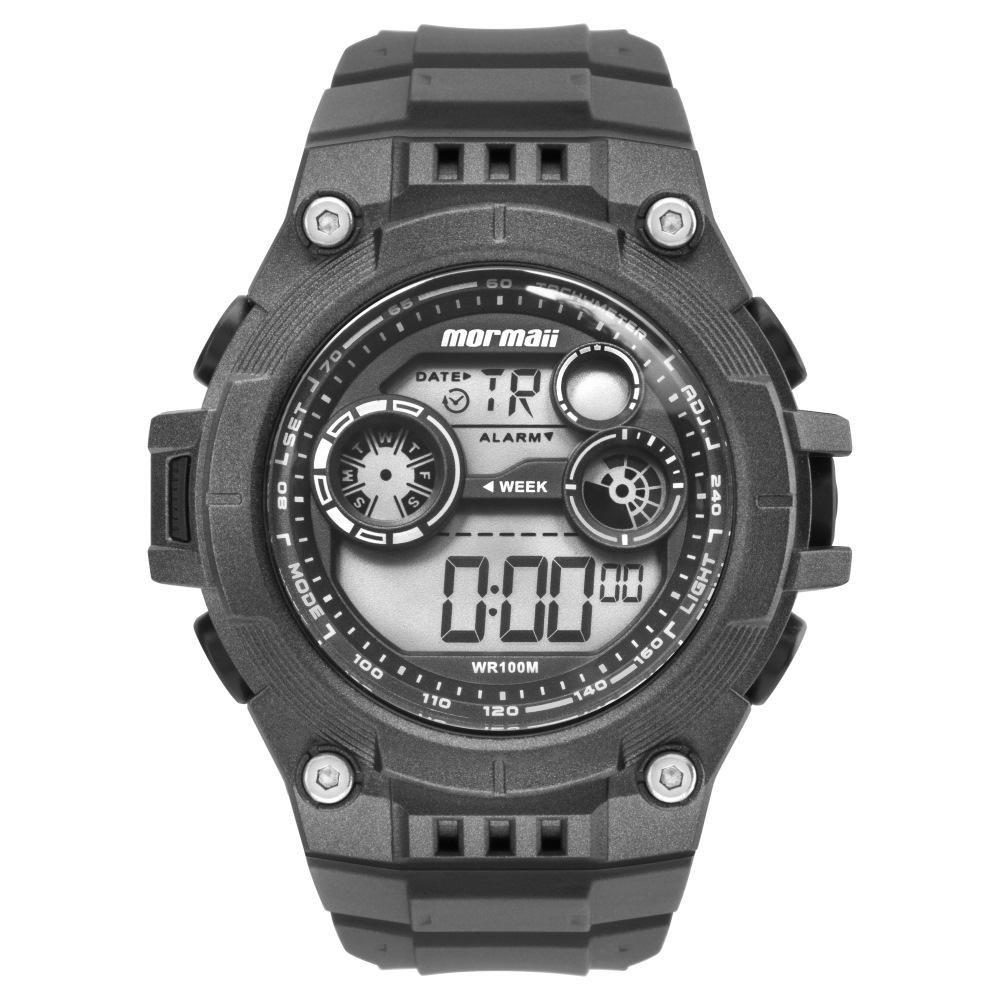 Relógio Masculino Mormaii MO9000E/8C 48mm Borracha Cinza