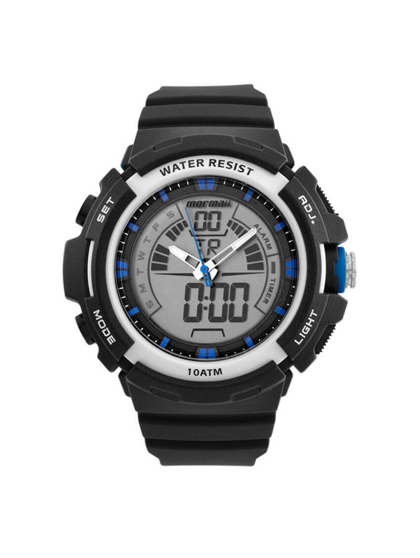 Relógio Masculino Mormaii MOAD08902/8A 55mm Pulseira Borracha Preta