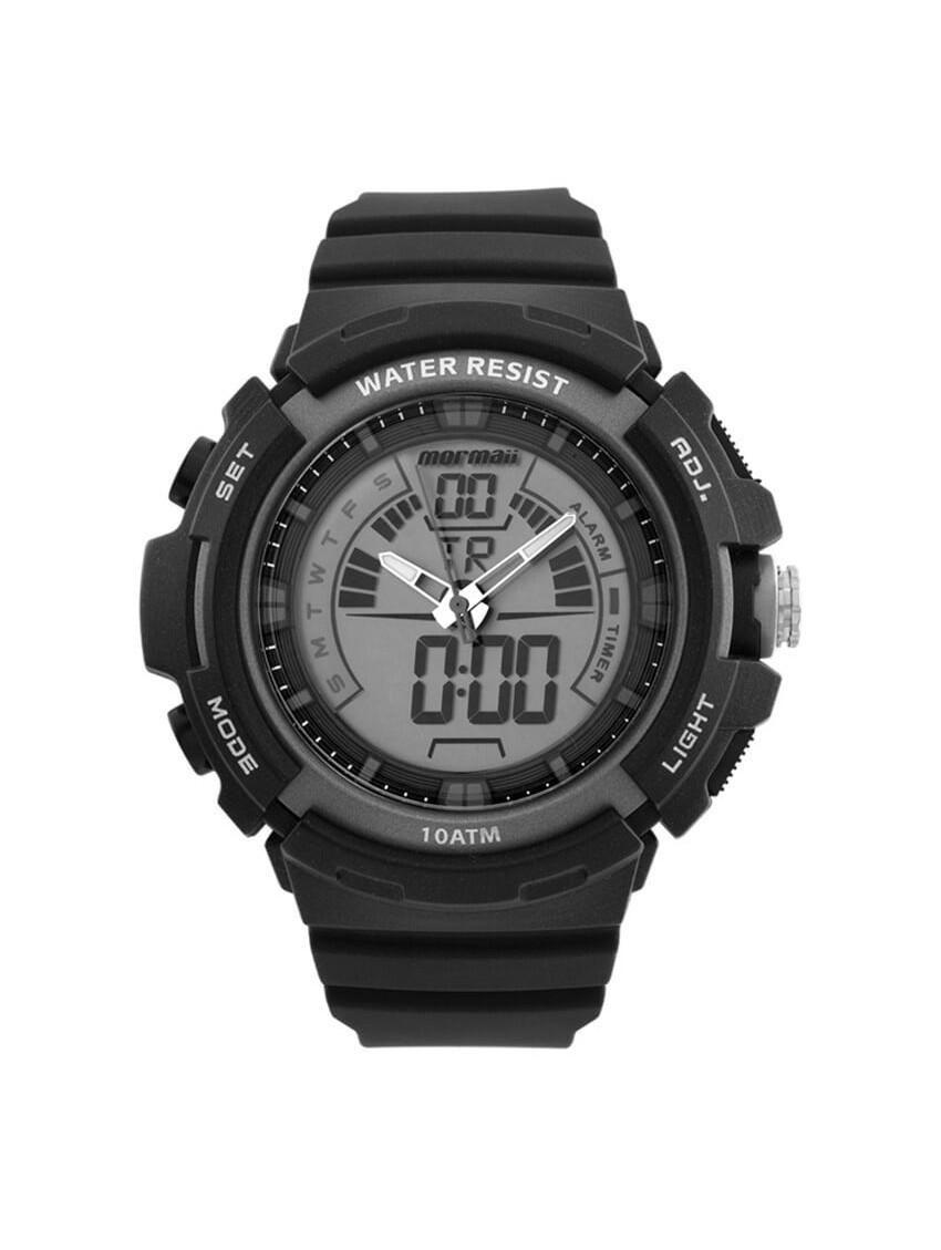 Relógio Masculino Mormaii MOAD08902/8C 55mm Pulseira Borracha Preta
