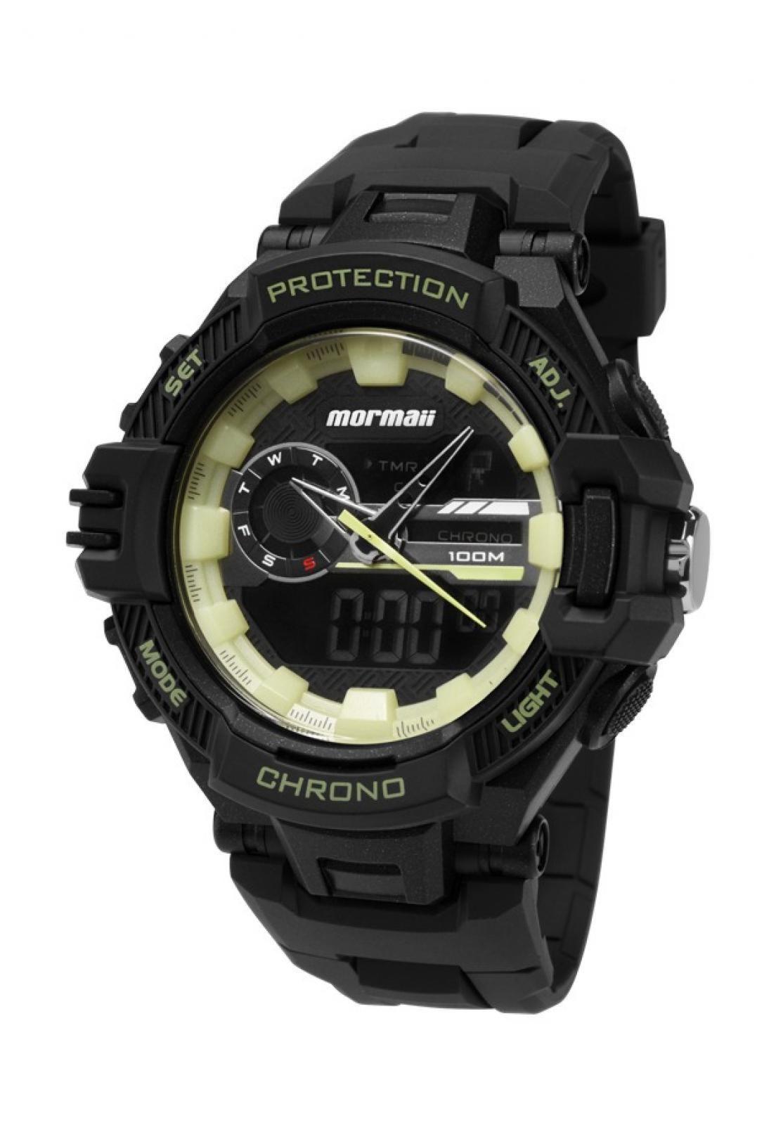 Relógio Masculino Mormaii MOAD1134/8P 50mm Borracha Preta