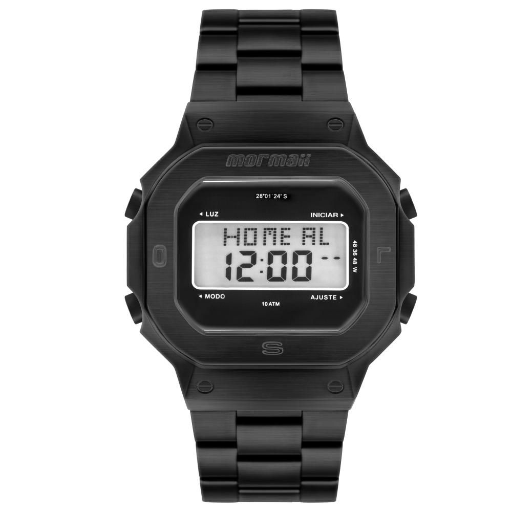 Relógio Masculino Mormaii MOBJ3421AB/4P 48mm Aço Preto