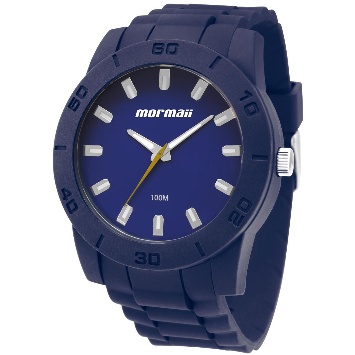 Relógio Masculino Mormaii  MOCRU2035AA/8A  45mm Silicone Azul