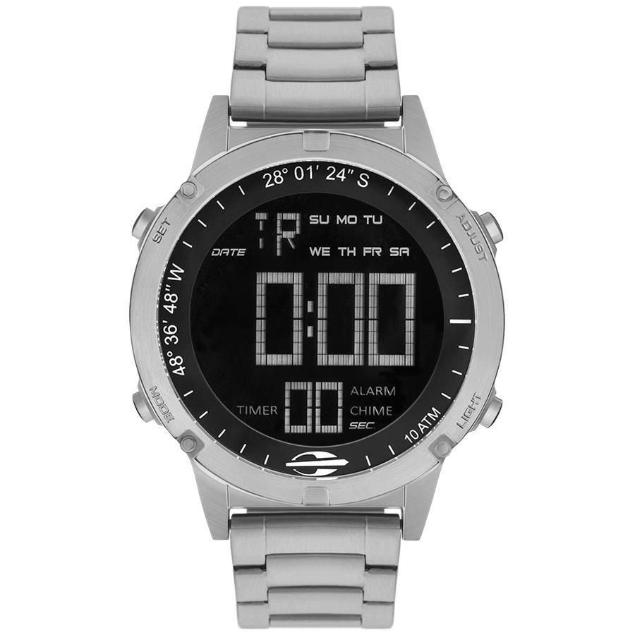 Relógio Masculino Mormaii MOW13901/1P 46mm Aço Prata