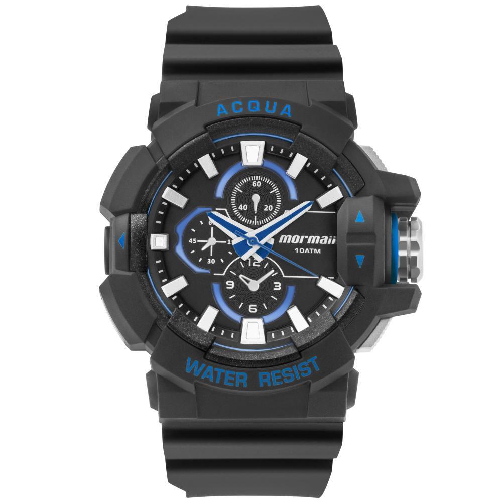 Relógio Masculino Mormaii MOY121E5CA/8A 46mm Borracha Preto