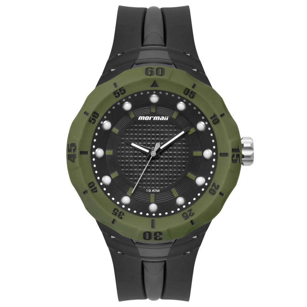 Relógio Masculino Mormaii MOY121E6AA/8V 50mm Borraccha Preta