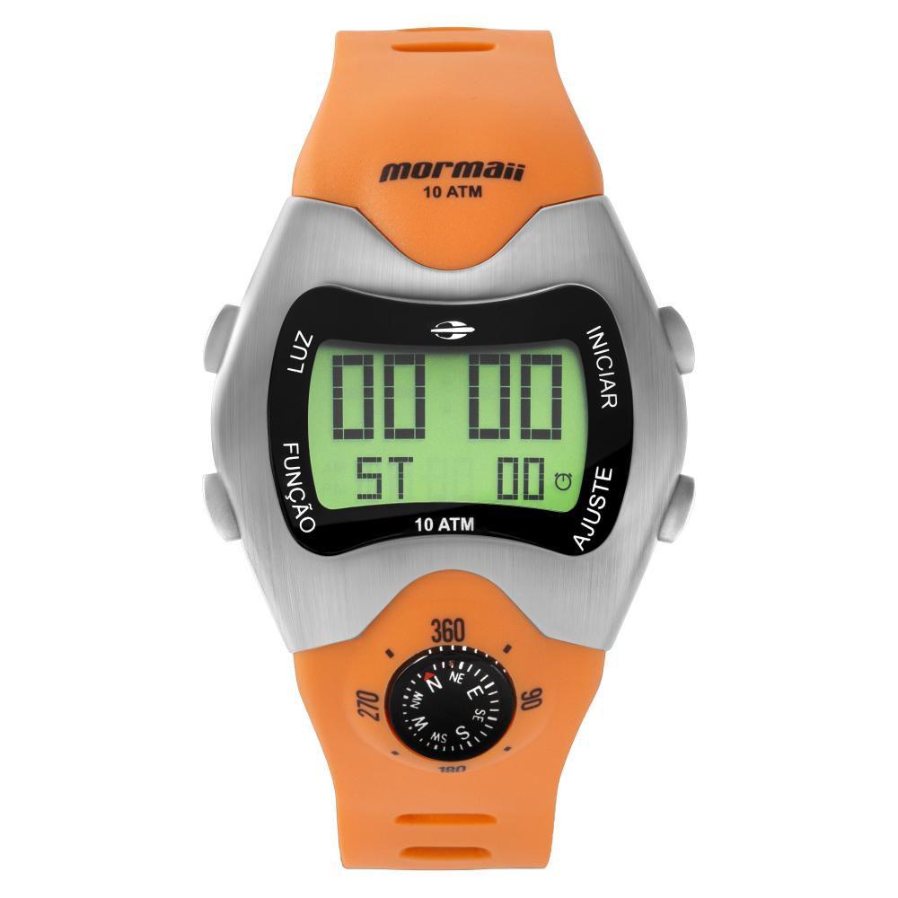 Relógio Masculino Mormaii Pro Digital MO1324AB/1L 44mm Silicone Laranja