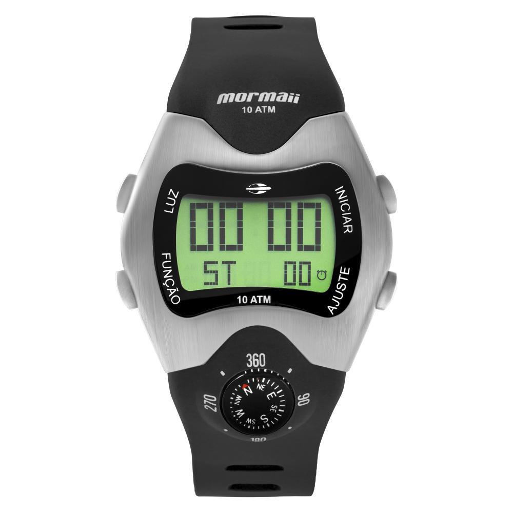 Relógio Masculino Mormaii Pro Digital MO1324AB/1P 44mm Silicone Preto