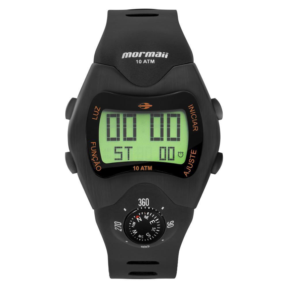 Relógio Masculino Mormaii Pro Digital MO1324AC/2P 44mm Silicone Preto