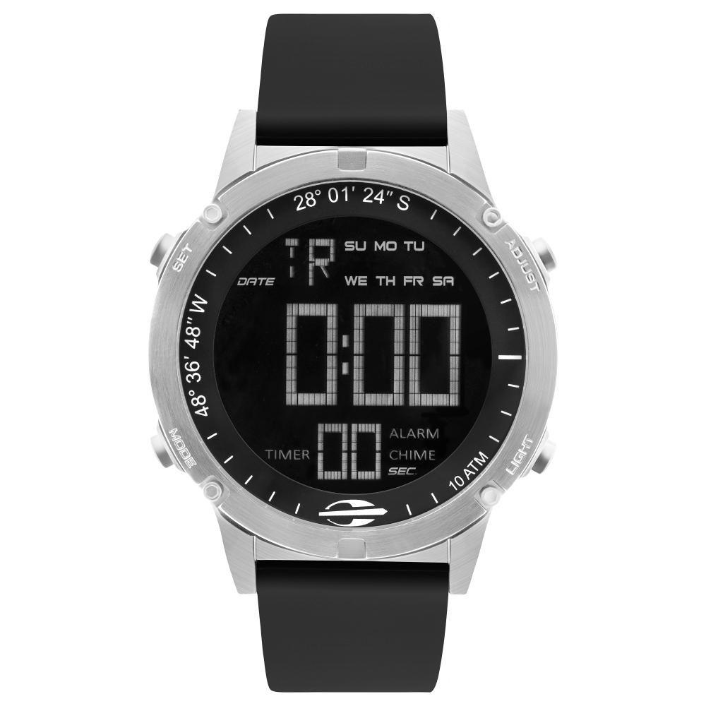 Relógio Masculino Mormaii Pro MOW13901D/2P 46mm Silicone Preto
