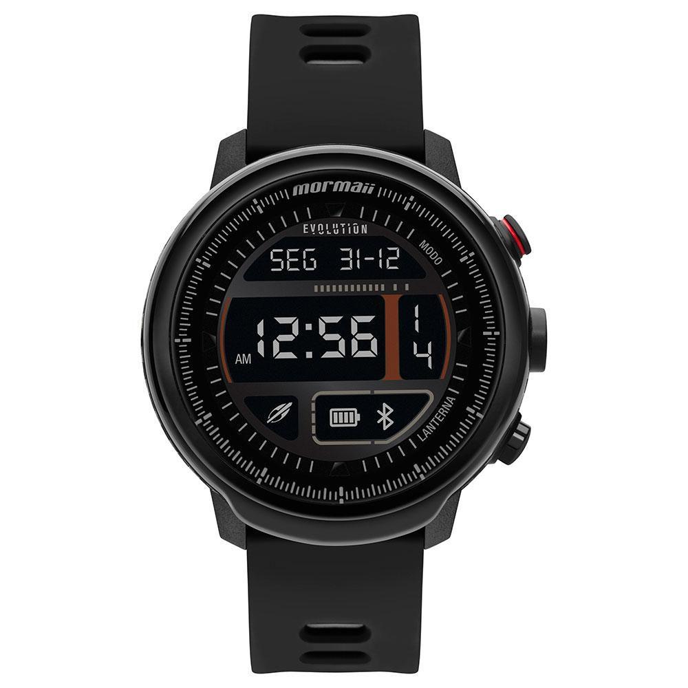 Relógio Masculino Mormaii Smartwatch Evolution MOL5AA/8P 48mm Slicone Preto