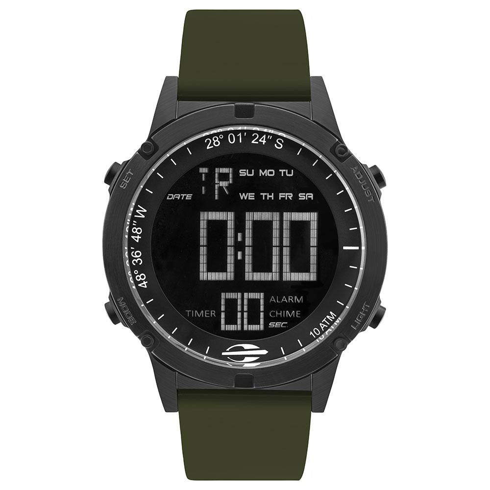 Relógio Masculino Mormaii Thunder MOW13901F/8V 46mm Silicone Verde