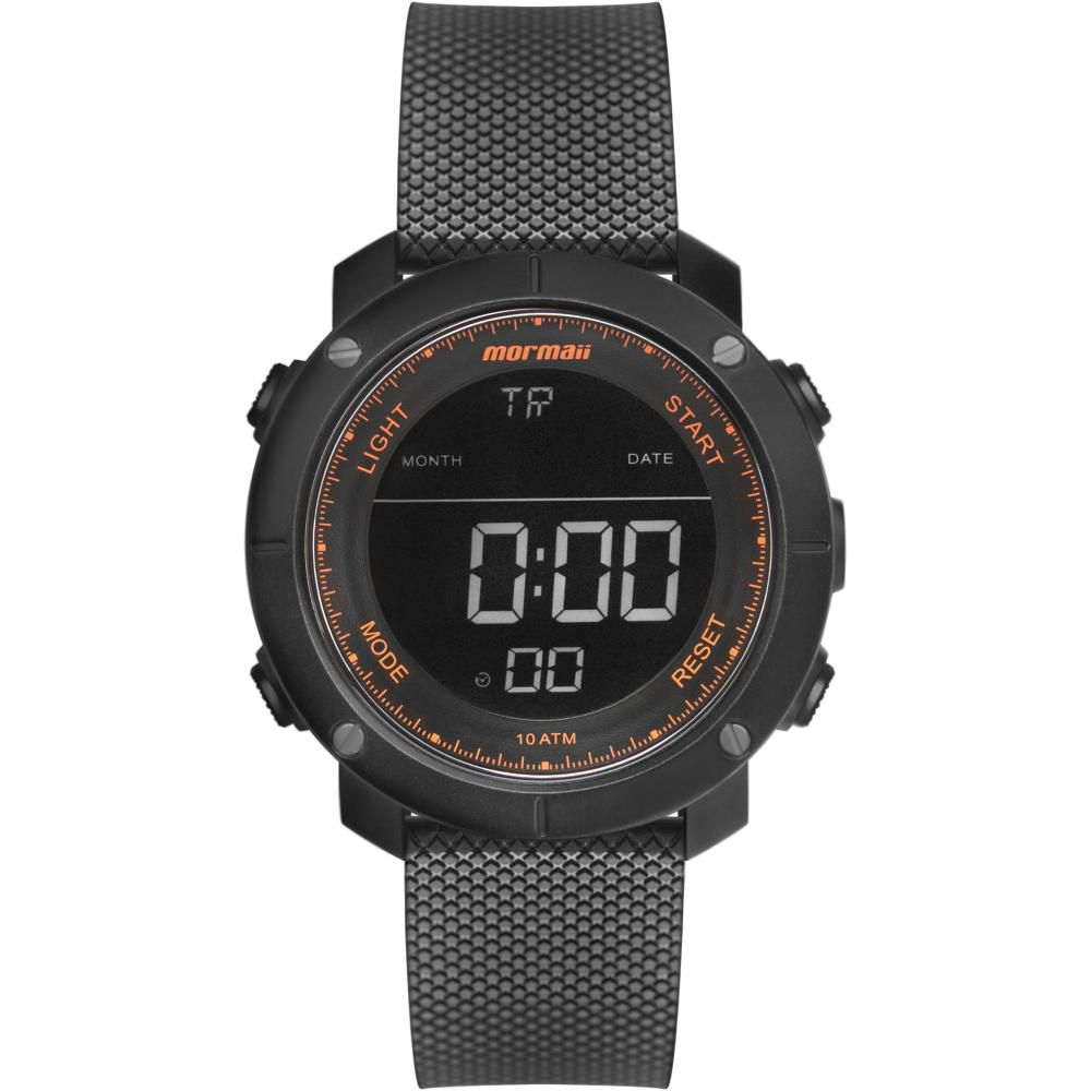 Relógio Masculino Mormaii Wave  MO0700AC/8L 50mm Borracha Preta