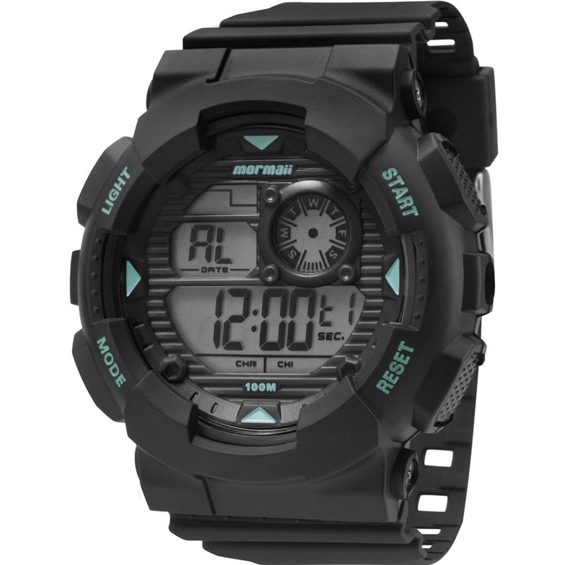 Relógio Masculino  Mormaii Wave MO3415/8A 51mm  Borracha Preto