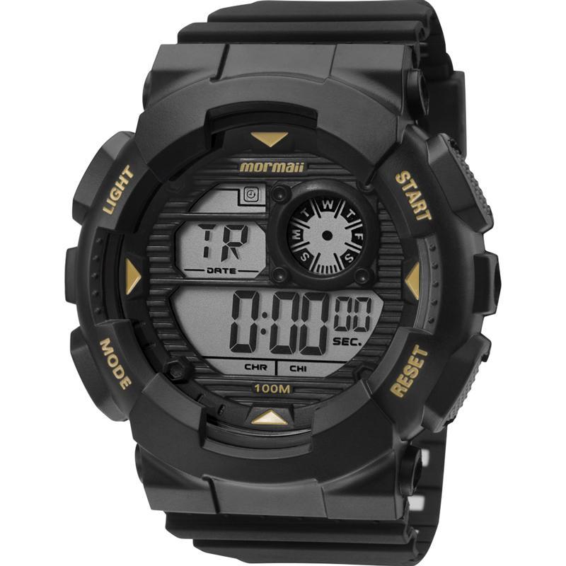 Relógio Masculino Mormaii Wave MO3415A/8P 51mm Borracha Preto