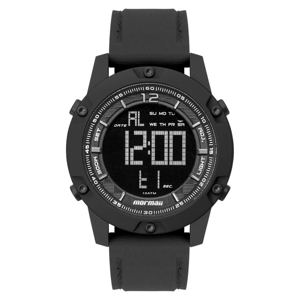 Relógio Masculino Mormaii Wave MO390JA/8P 48mm Silicone Preto