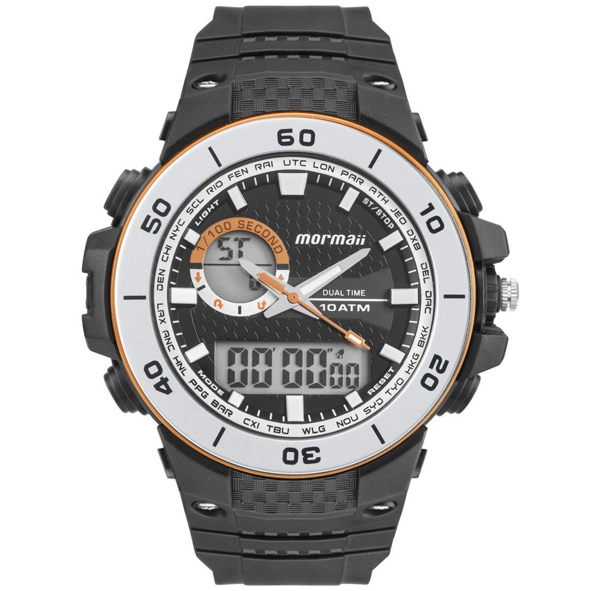 Relógio Masculino Mormaii Wave MOAD9450AA/8M 54mm Borracha Preta