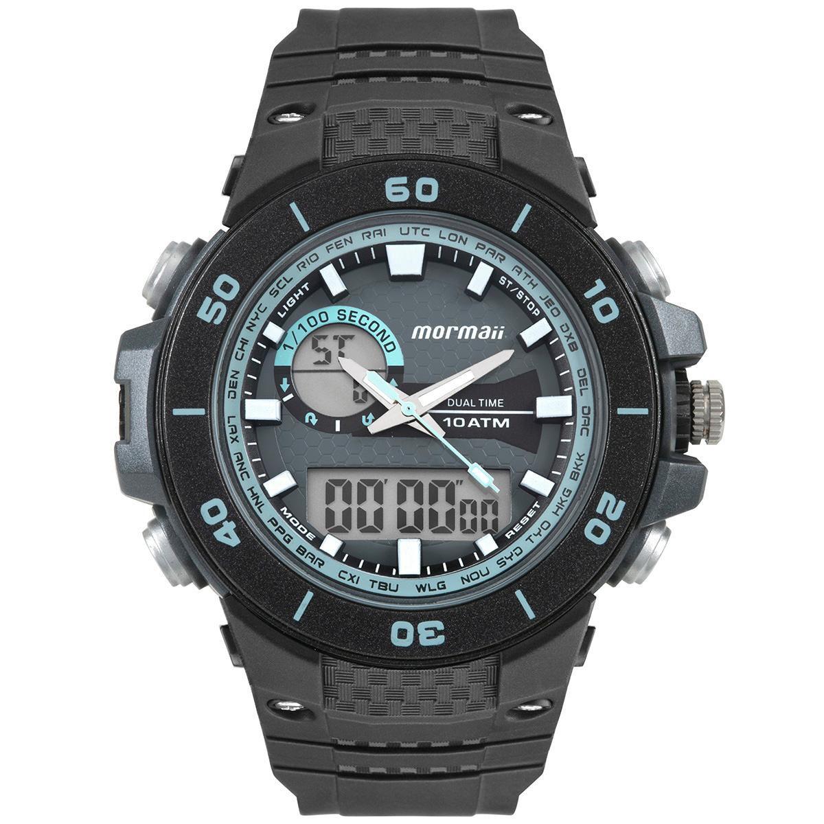4814d9e07 Relógio Masculino Mormaii Wave MOAD9450AB/8A 54mm Borracha Preta