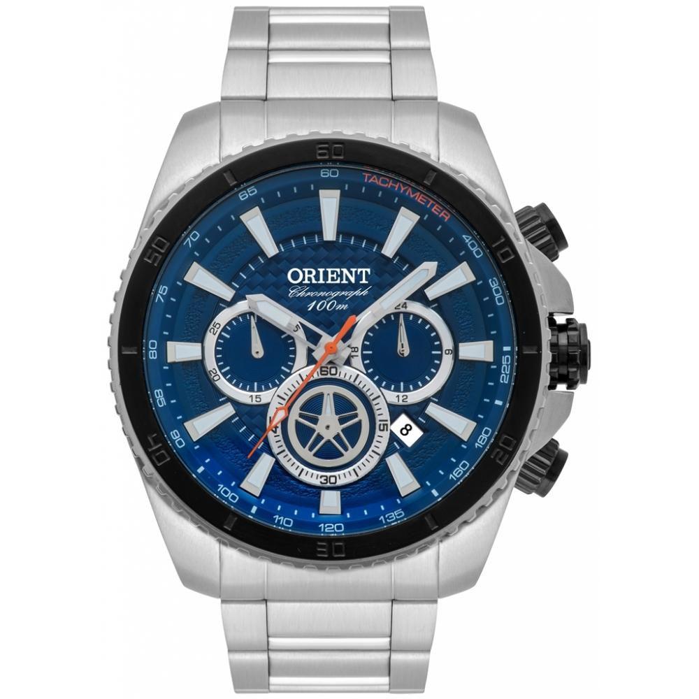 b89566618fa Relógio Masculino Orient MBSSC168-D1SX 48 mm Aço Prata