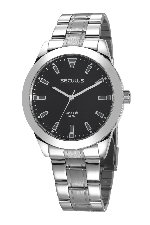 Relógio Masculino Seculus 28980G0SVNA1 45mm Aço Prata