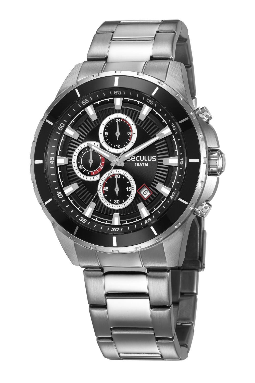 Relógio Masculino Seculus 28984G0SVNA2 48mm Aço Prata