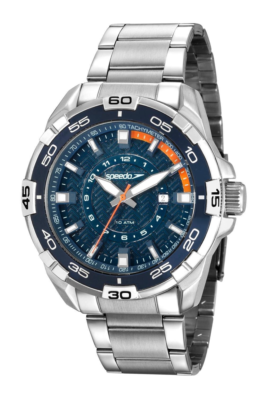 Relógio Masculino Speedo 15006G0EVNS1 48mm Aço Prata