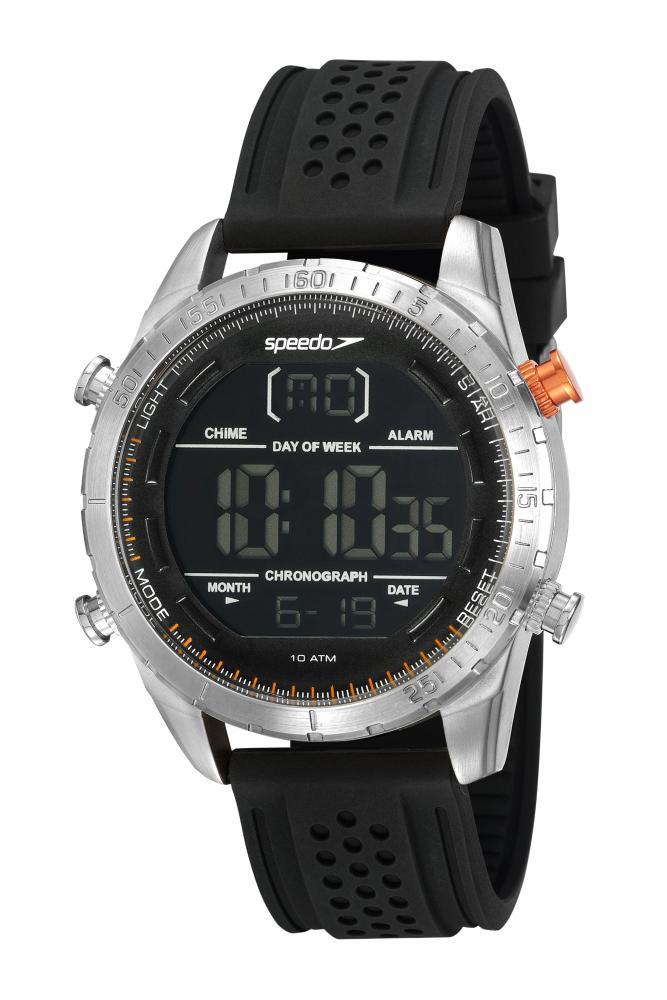 Relógio Masculino Speedo 15021G0EVNI3 48mm Silicone Preto