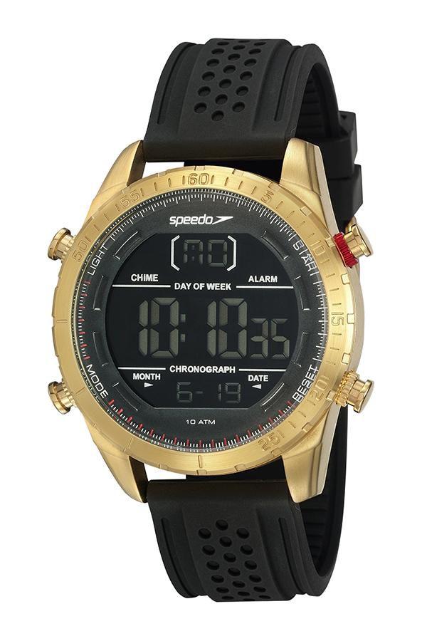 Relógio Masculino Speedo 15021GPEVDI2 48mm Silicone Preto